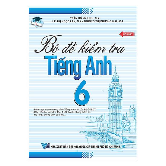 Download sách Bộ Đề Kiểm Tra Tiếng Anh 6