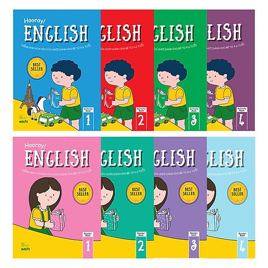 Combo: Bộ Hooray English (8 Cuốn) (Tặng Thỏ Bunny)