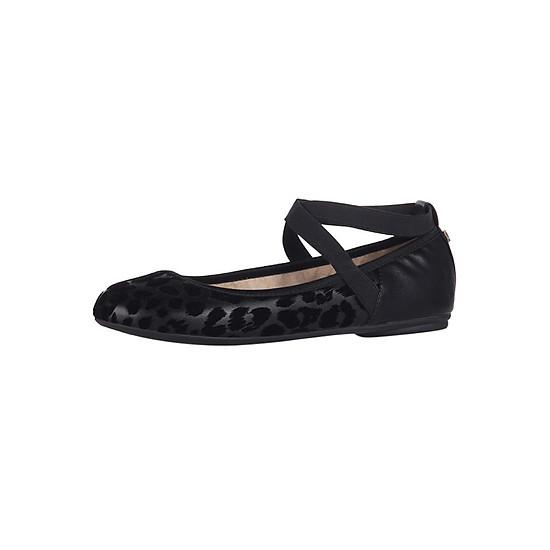 Giày Búp Bê Đế Bệt SYLVIE BLACK FLOCKED LEOPARD Butterfly Twists BT21-033-726 - Đen