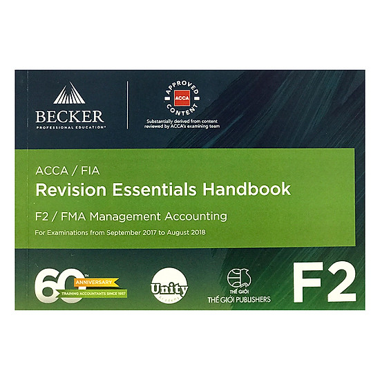 [Download sách] Sách ACCA Revision Essentials Handbook - F2 Management Accounting