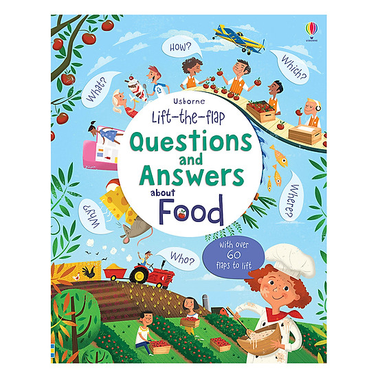 [Download sách] Usborne Lift-The-Flap Questions And Answers About Food