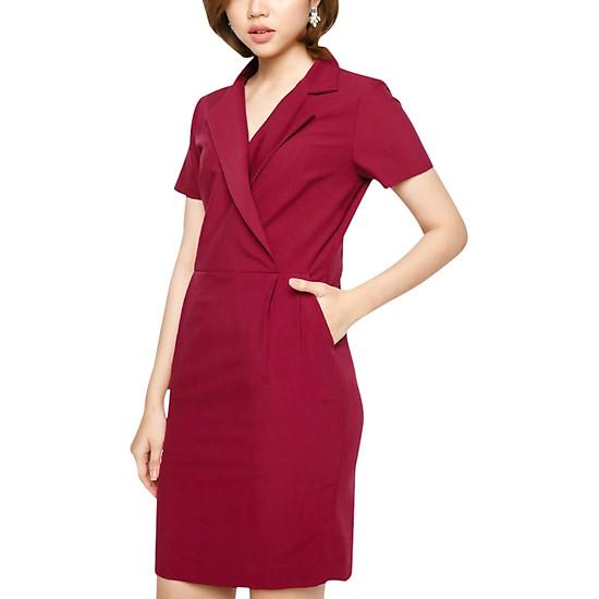 Đầm Cổ Danton Gài Xéo Vicky Boutique D671 - Đỏ