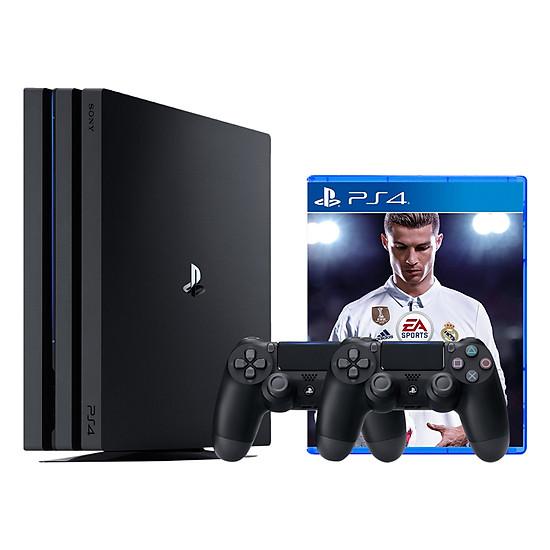 Máy Chơi Game PlayStation PS4 Pro CUH-7006B 1TB FIFA 18 Bundle Và 2 Ta...