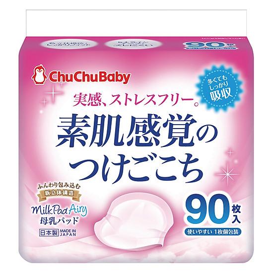 Miếng Lót Thấm Sữa ChuChu Baby Milk Pad Airy (90 Miếng)