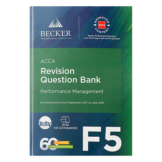 [Download sách] Sách ACCA Revision Question Bank F5 Performance Management
