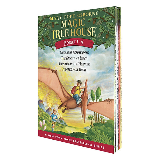 [Download Sách] Magic Tree House Boxed Set, Books 1-4: Dinosaurs Before Dark, The Knight At Dawn, Mummies In The Morning, And Pirates Past Noon