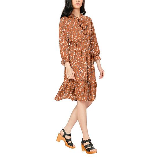 Đầm Hoa Dáng Xoè Thắt Nơ Kass 23221217 - Cam (Freesize)