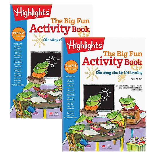 Combo Big Fun Activity Book - Sẵn Sàng Cho Bé Tới Trường Pre K (2-4 Tuổi)