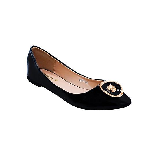 Giày Búp Bê Khóa Tròn Sulily B02-IV17 - Đen