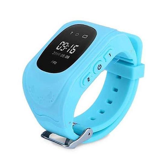 Kết quả hình ảnh cho Đồng hồ định vị GPS Wonlex Q50 màu xanh dương