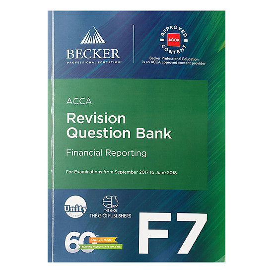 [Download sách] Sách ACCA Revision Question Bank F7 Financial Reporting