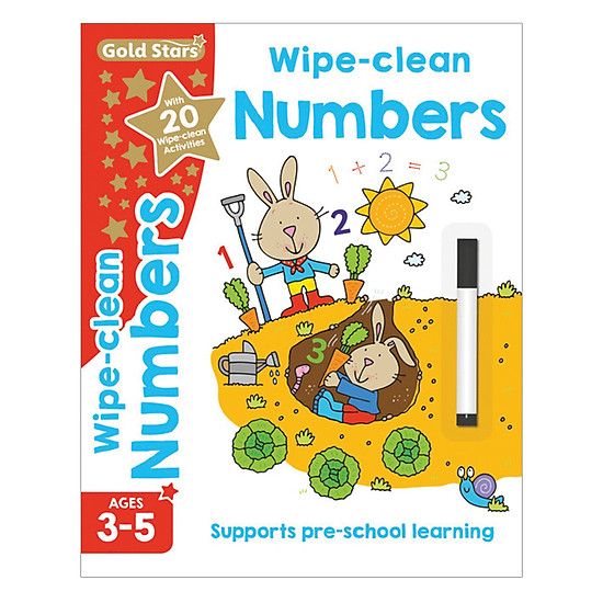 Gold Stars - Wipe - Clean Numbers Ages 3-5