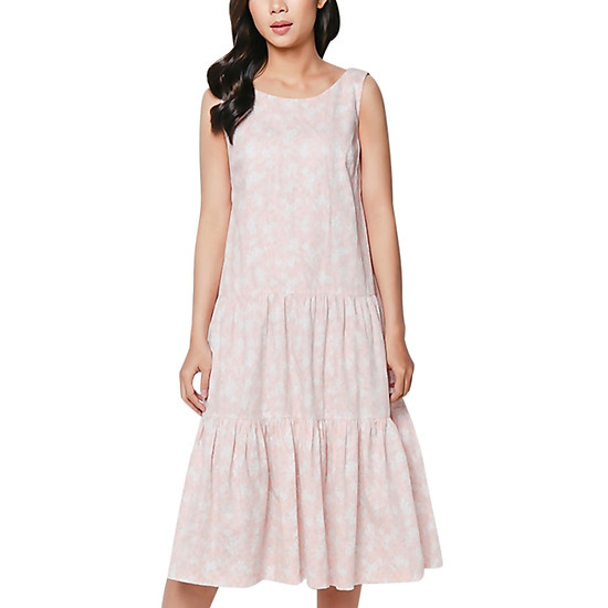 Đầm Maxi Cotton Vicky Boutique D719 - Hồng