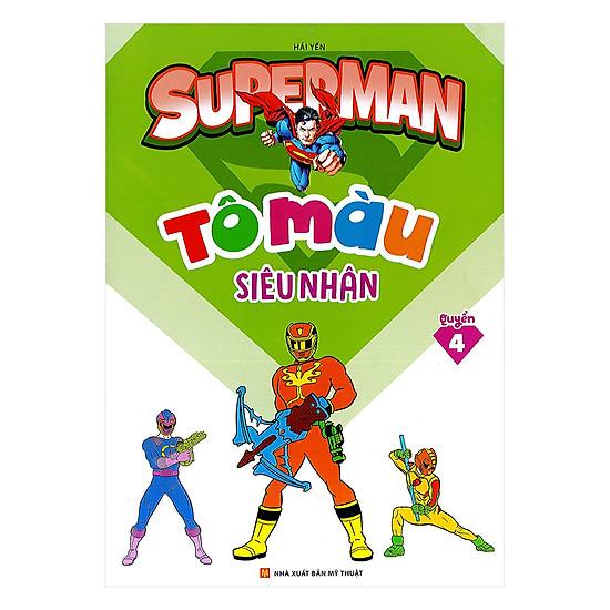 Tô Màu Siêu Nhân Superman Quyển 4
