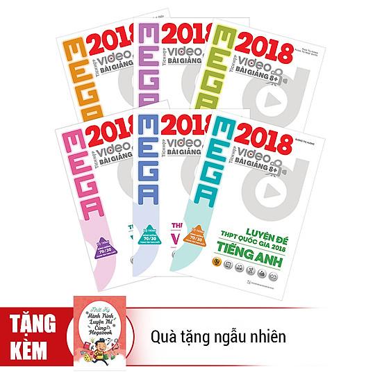 Combo Trọn Bộ 6 Cuốn Mega Luyện Đề THPT Quốc Gia 2018 - Tặng Kèm Quà Tặng Ngẫu Nhiên
