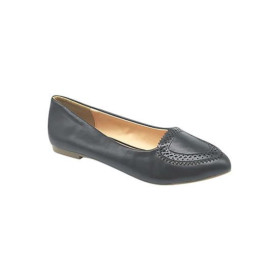 Giày Búp Bê Nơ Tim Sulily B02-III16 - Đen