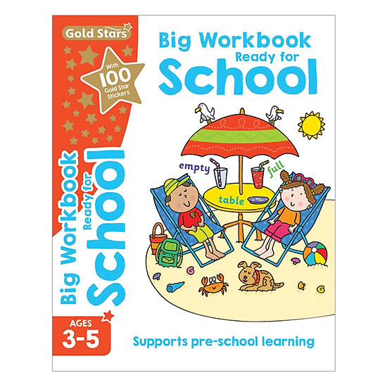 Gold Stars - Big Workbook Ready For School Ages 3-5