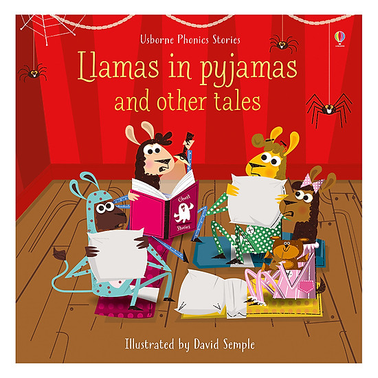 [Download Sách] Usborne Phonics Stories - Llamas In Pyjamas And Other Tales & CD
