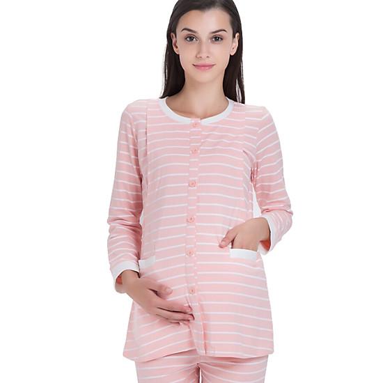 Pajama Sọc Ngang Aibo M304 - Hồng