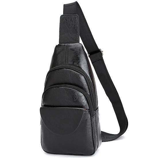 Túi chéo da cao cấp, vừa cổ điển, tiện dụng và đơn giản 307 - Cam