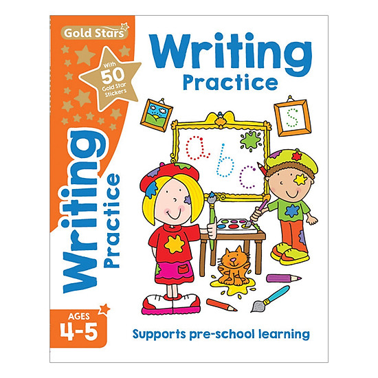 Gold Stars - Writing Practice Ages 4-5