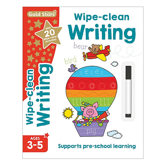 Gold Stars - Wipe - Clean Writing Ages 3-5