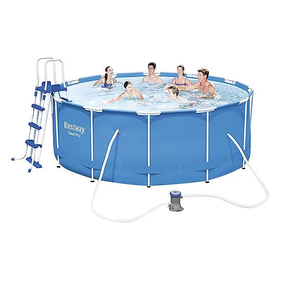 Bể Bơi Tròn Khung Chống Kim Loại Bestway 56420 (366 x 122 cm)