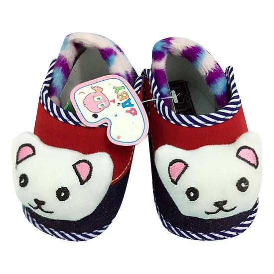 Giày Tập Đi Đế Bệt Baby Panda Bảo Thịnh - Đỏ (13cm)