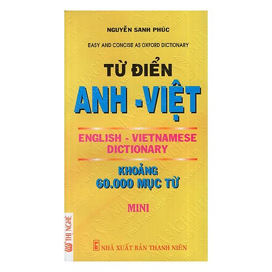[Download Sách] Từ Điển Anh - Việt (60.000 Từ)