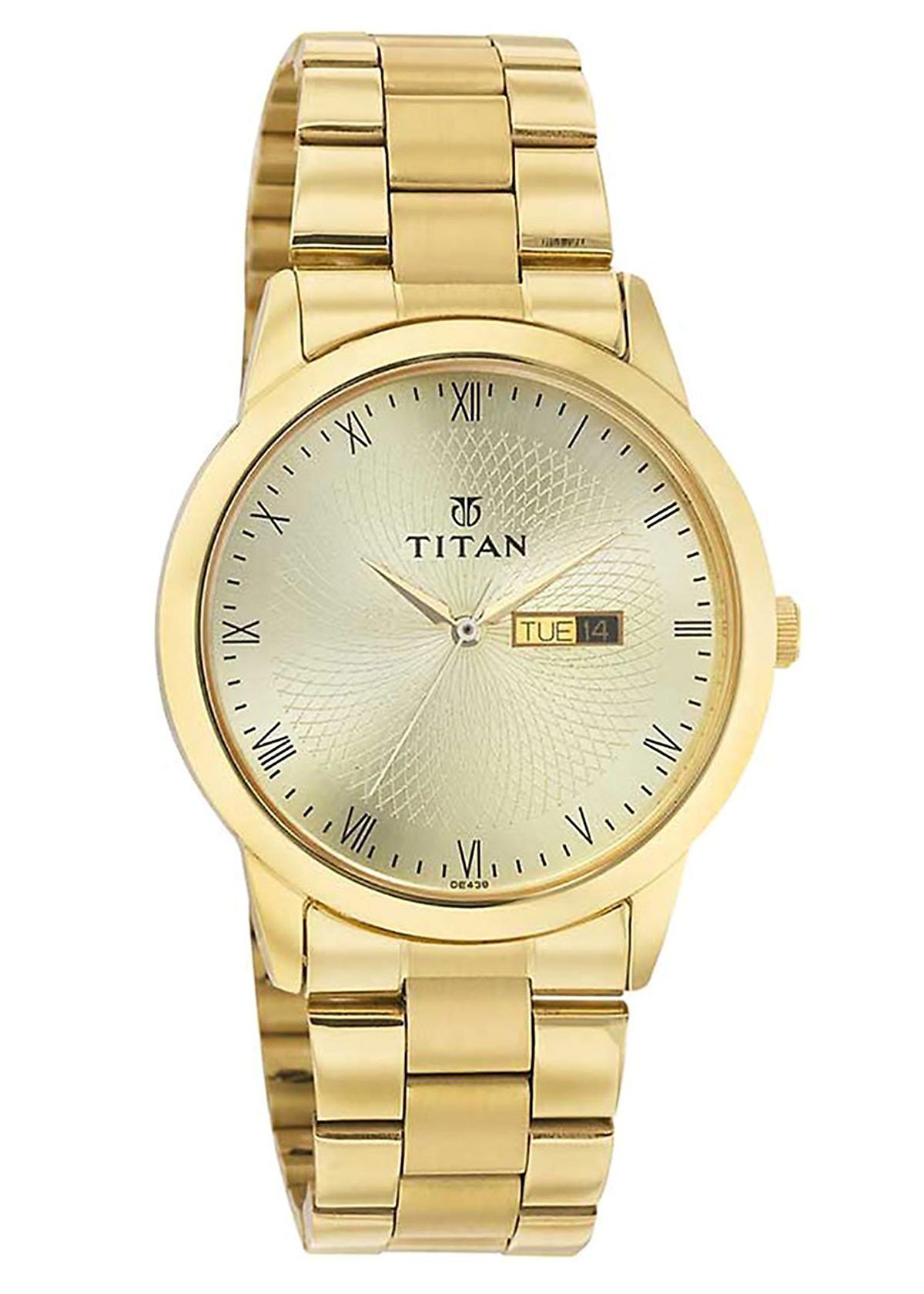 Đồng Hồ Nam Dây Kim Loại Titan 1584YM01