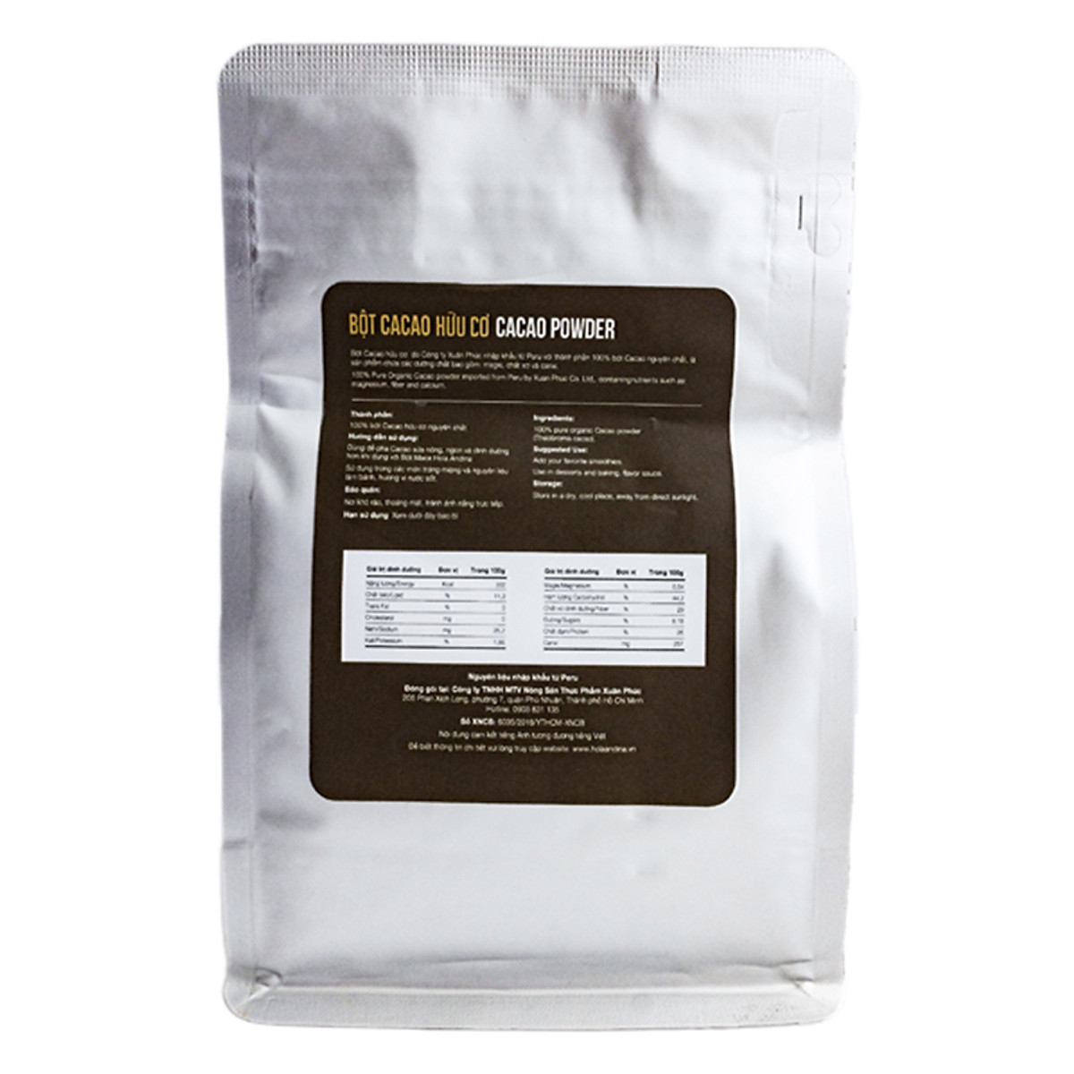 Bột Cacao Hữu Cơ Hola Andina (200g)=141.000 ₫