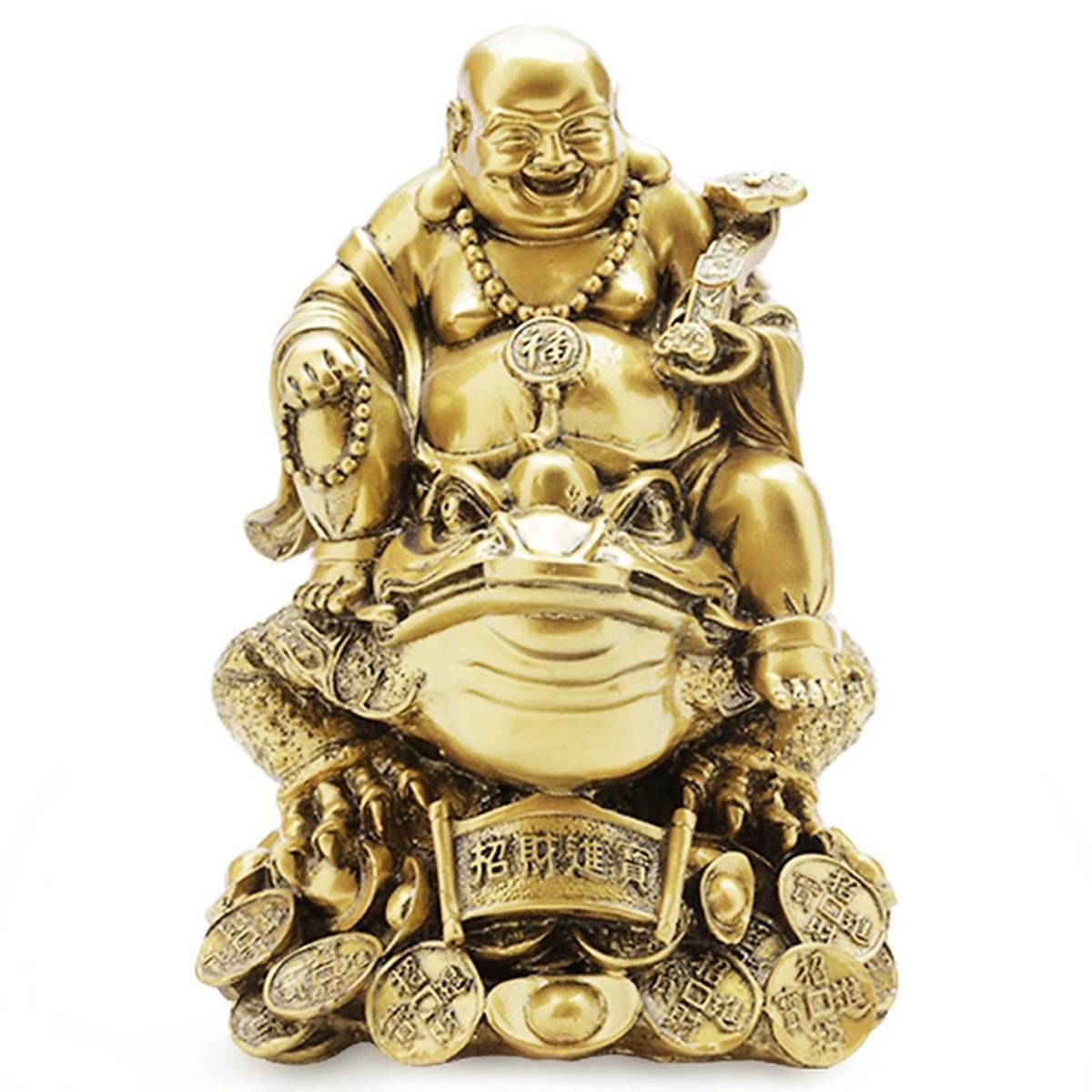 Tượng Phật Di Lặc Cưỡi Cóc Màu Đồng Vạn Thiên Xuân