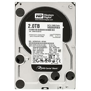 Ổ Cứng HDD WD Black 2TB 64MB 7200rpm 3 5 WD2003FZEX