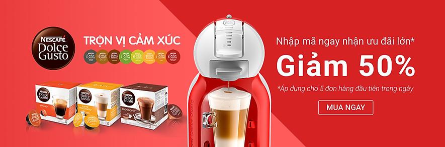 giảm 50% máy pha cà phê NDG Minime