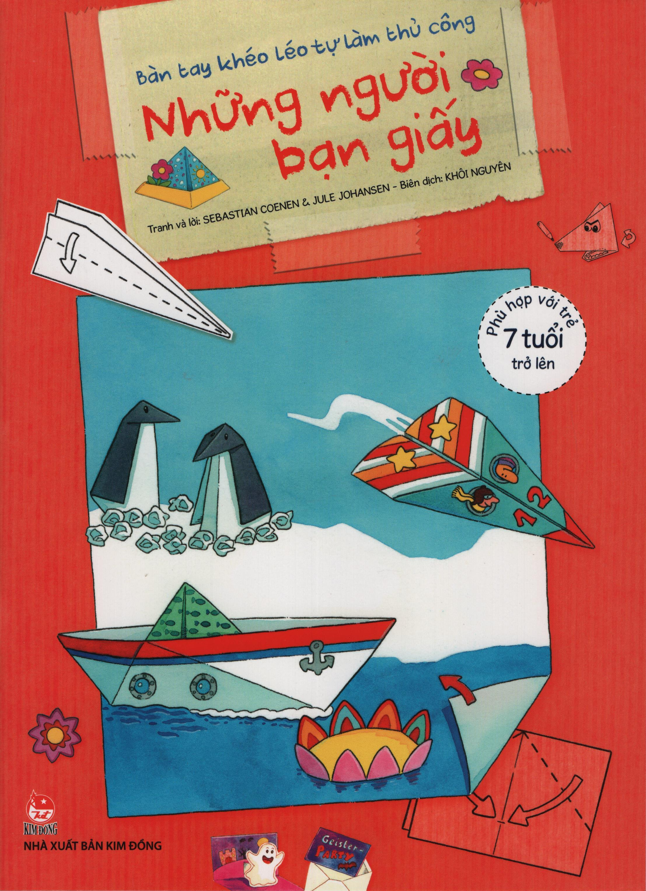 Bìa sách Bàn Tay Khéo Léo Tự Làm Thủ Công - Những Người Bạn Giấy
