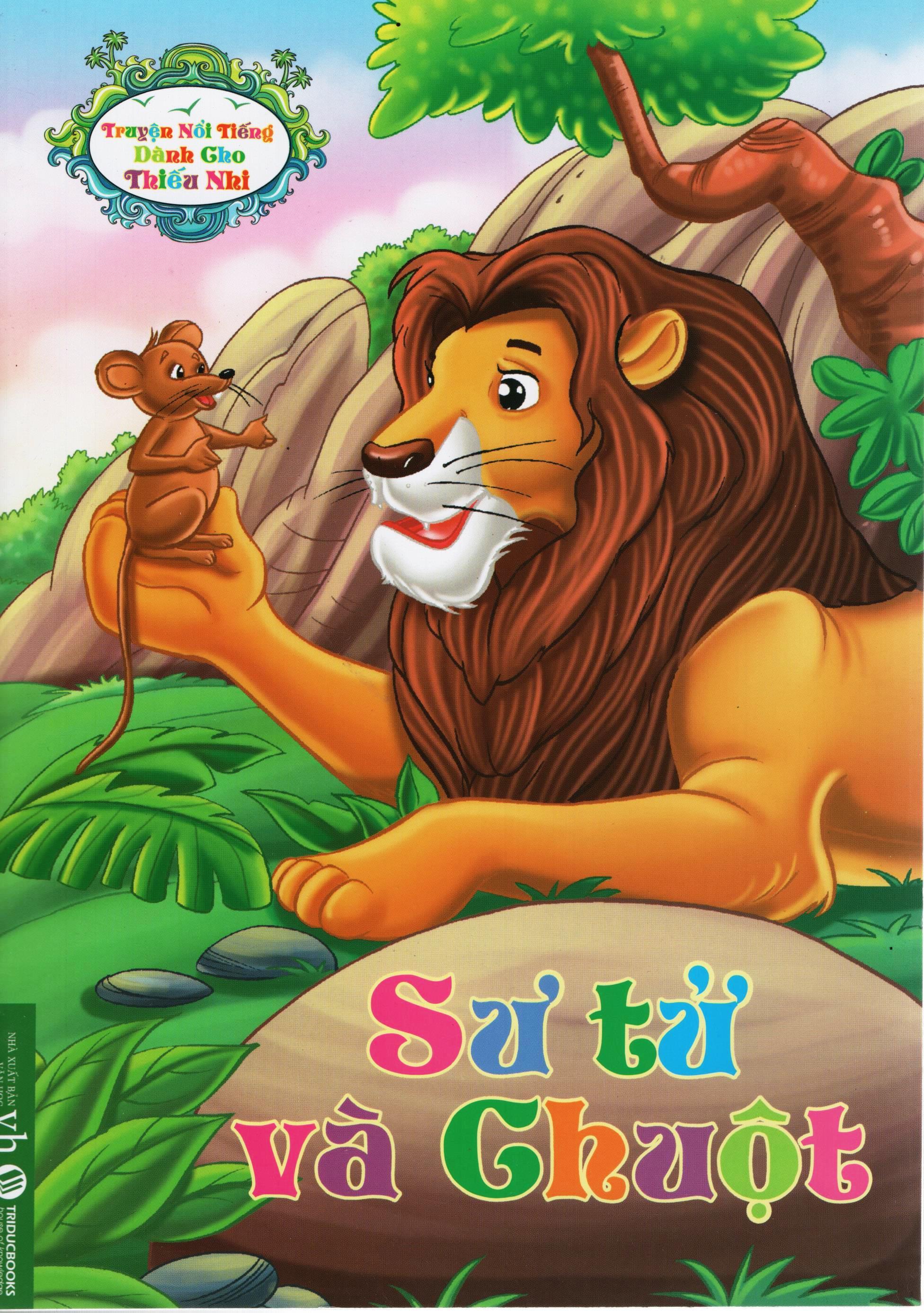 Bìa sách Truyện Nổi Tiếng Dành Cho Thiếu Nhi – Sư Tử Và Chuột
