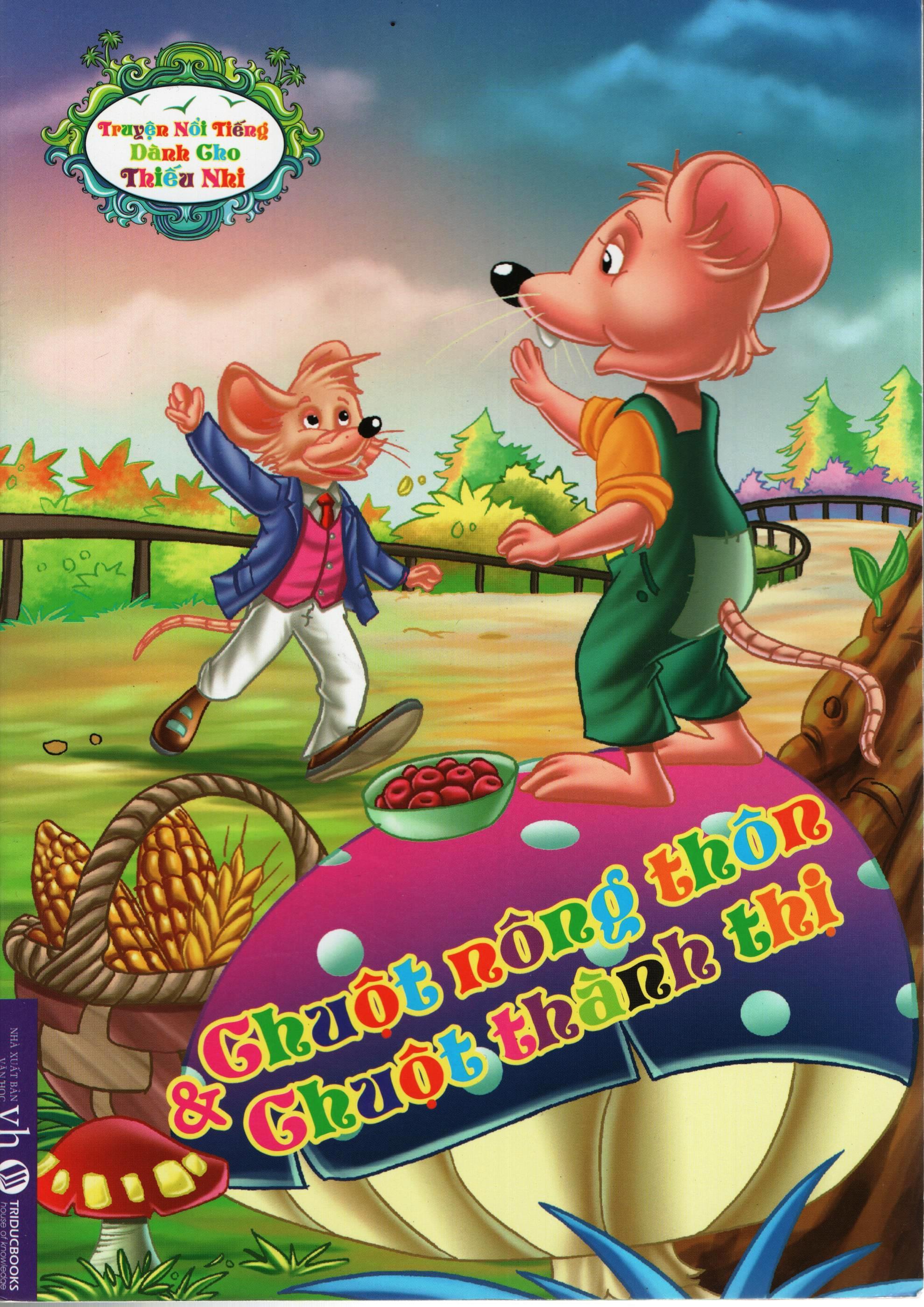 Bìa sách Truyện Nổi Tiếng Dành Cho Thiếu Nhi – Chuột Nông Thôn Và Chuột Thành Thị