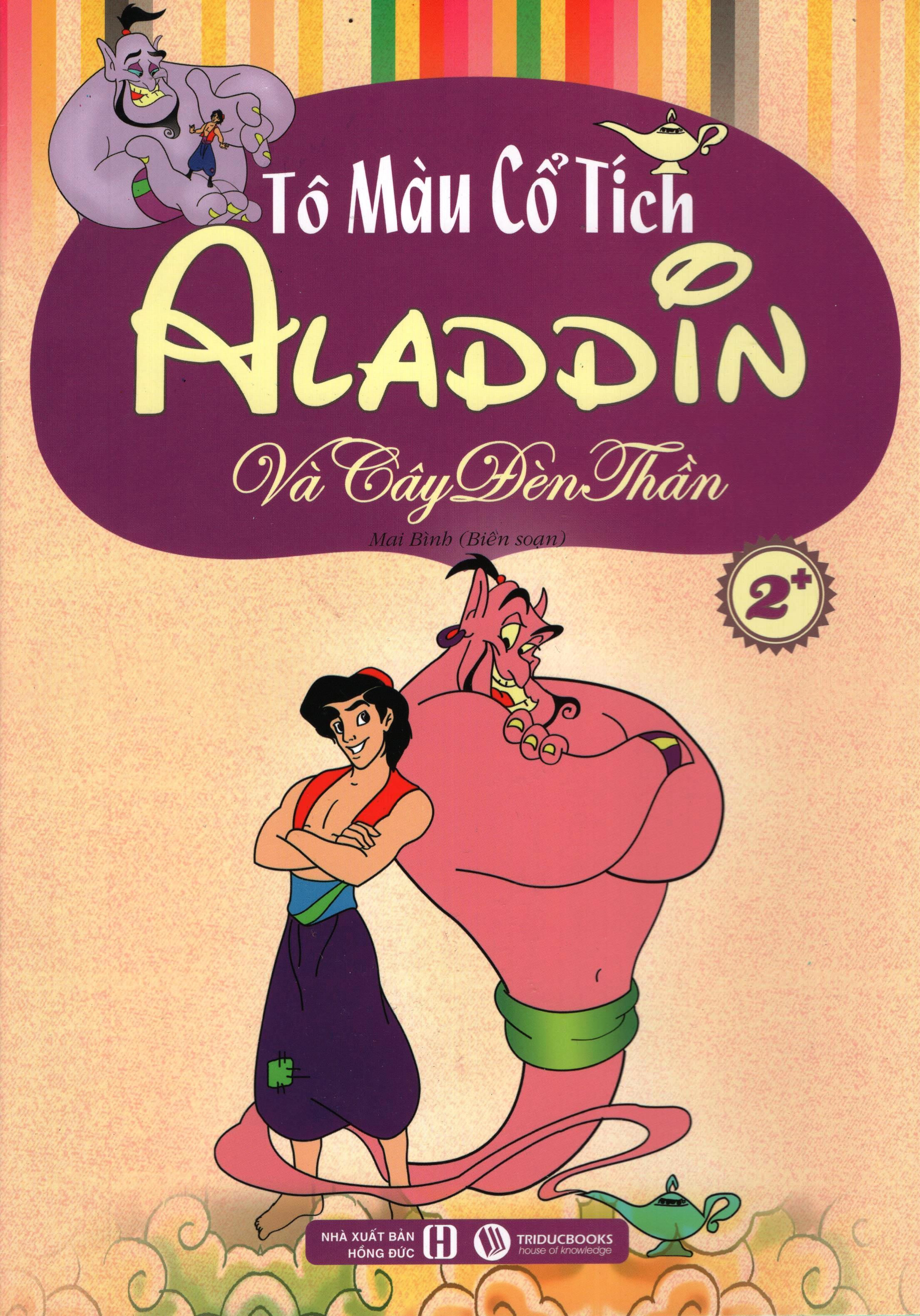 Bìa sách Tô Màu Cổ Tích – Aladdin Và Cây Đèn Thần