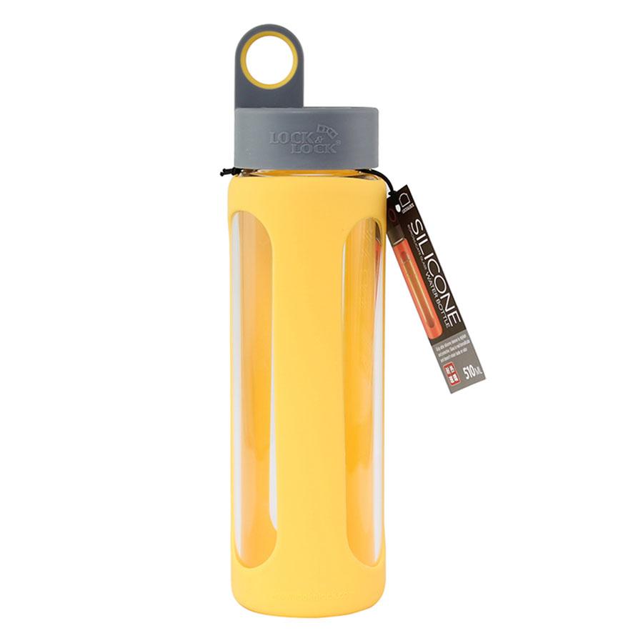 Bnh Nc Thy Tinh Chu Nhit Locklock X Band V Bc Silicon One Touch Cap Bottle Green Hlc951grn Chia S
