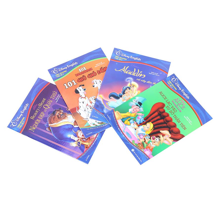 Bìa sách Combo Disney English - Cấp Độ 3 (Bộ 4 Quyển)
