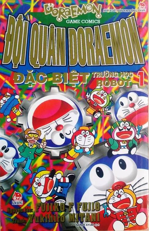 Bìa sách Đội Quân Doraemon Đặc Biệt - Trường Học Robot (Tập 1)