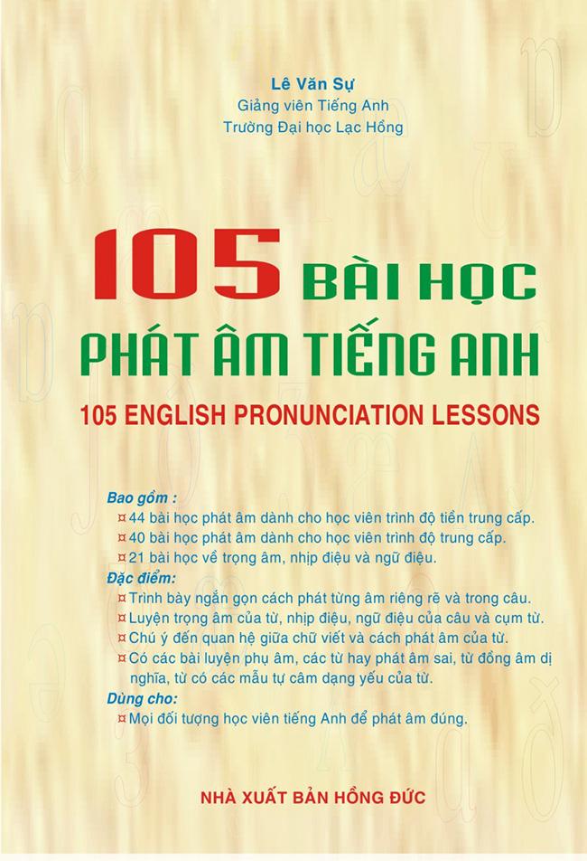 Bìa sách 105 Bài Học Phát Âm Tiếng Anh