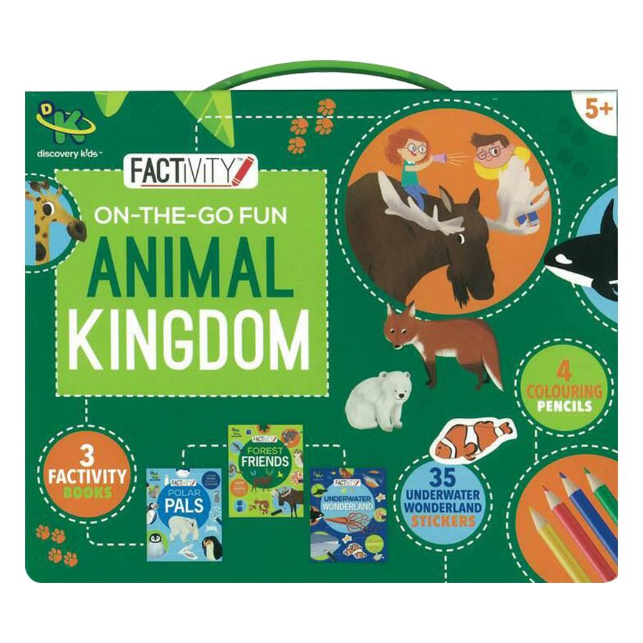 Bìa sách Discovery Kids Factivity On-The-Go Fun Animal Kingdom