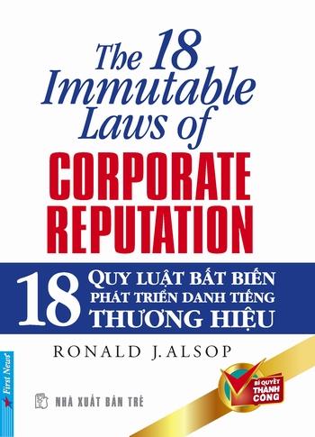 Bìa sách 18 Quy Luật Bất Biến Phát Triển Danh Tiếng Thương Hiệu