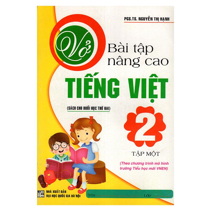 Bìa sách Vở Bài Tập Nâng Cao Tiếng Việt 2 (Tập 1)