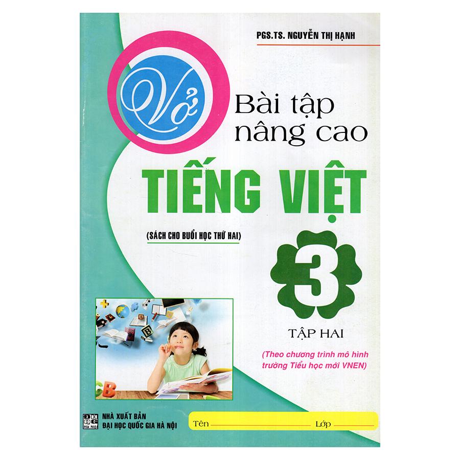 Bìa sách Vở Bài Tập Nâng Cao Tiếng Việt 3 (Tập 2)