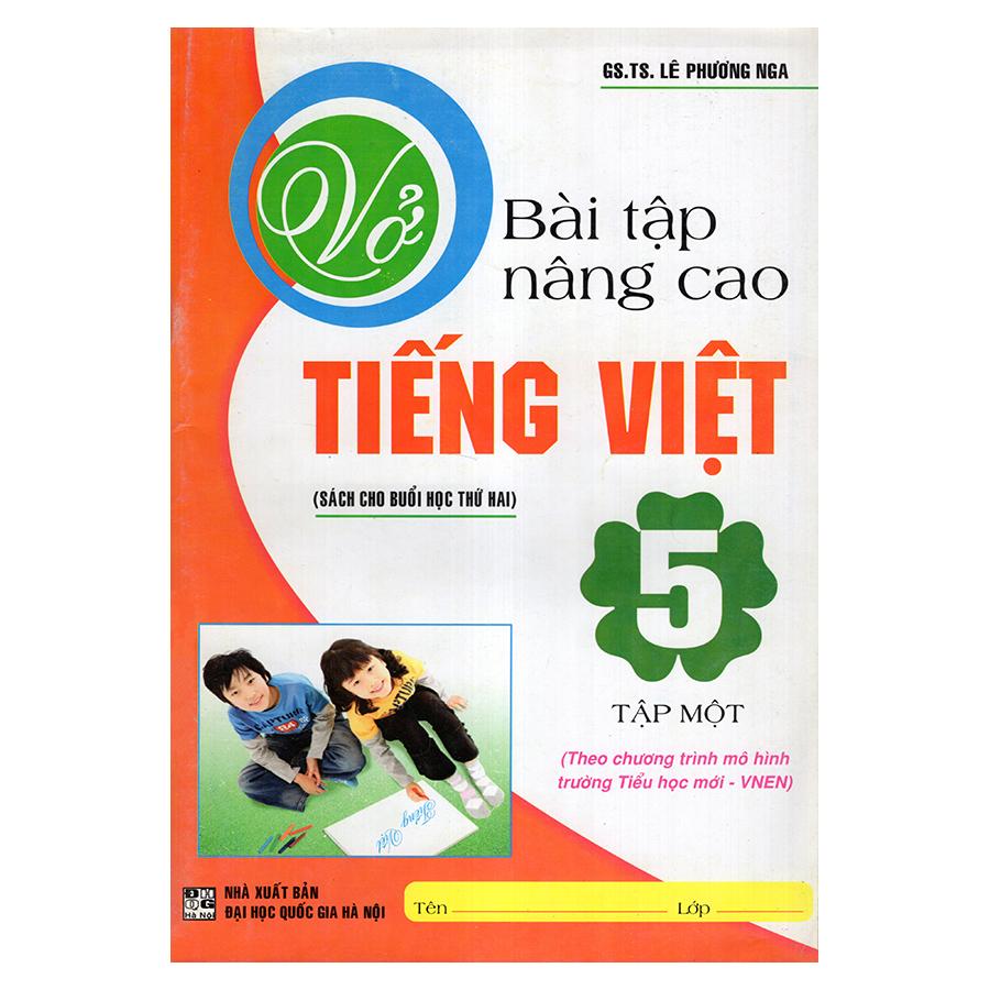 Bìa sách Vở Bài Tập Nâng Cao Tiếng Việt 5 (Tập 1)
