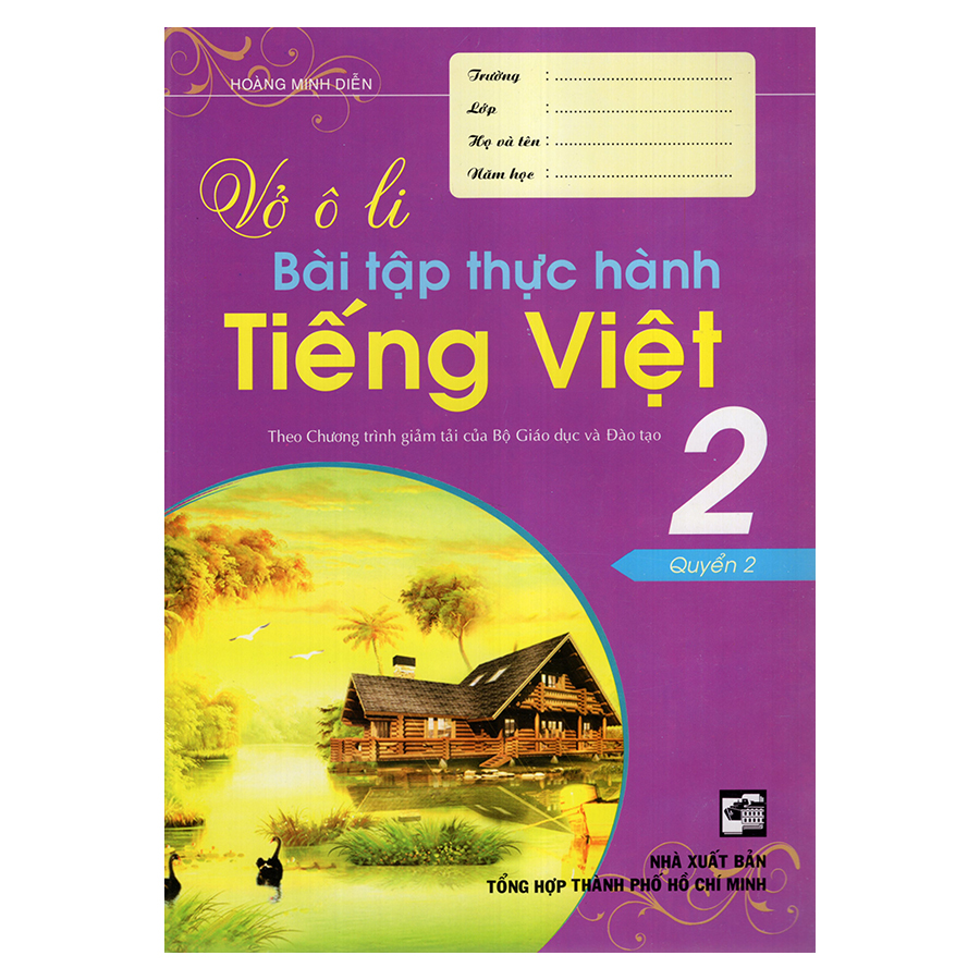 Bìa sách Vở Ô Li Bài Tập Thực Hành Tiếng Việt 2 (Quyển 2)