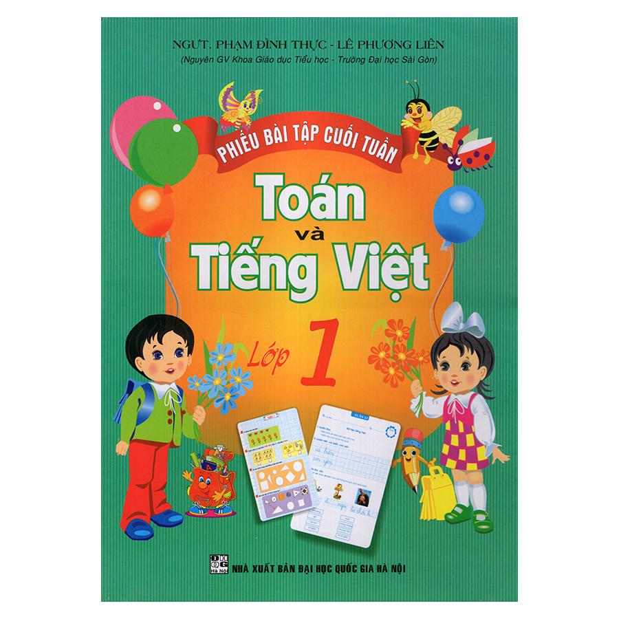Bìa sách Phiếu Bài Tập Cuối Tuần Toán Và Tiếng Việt 1