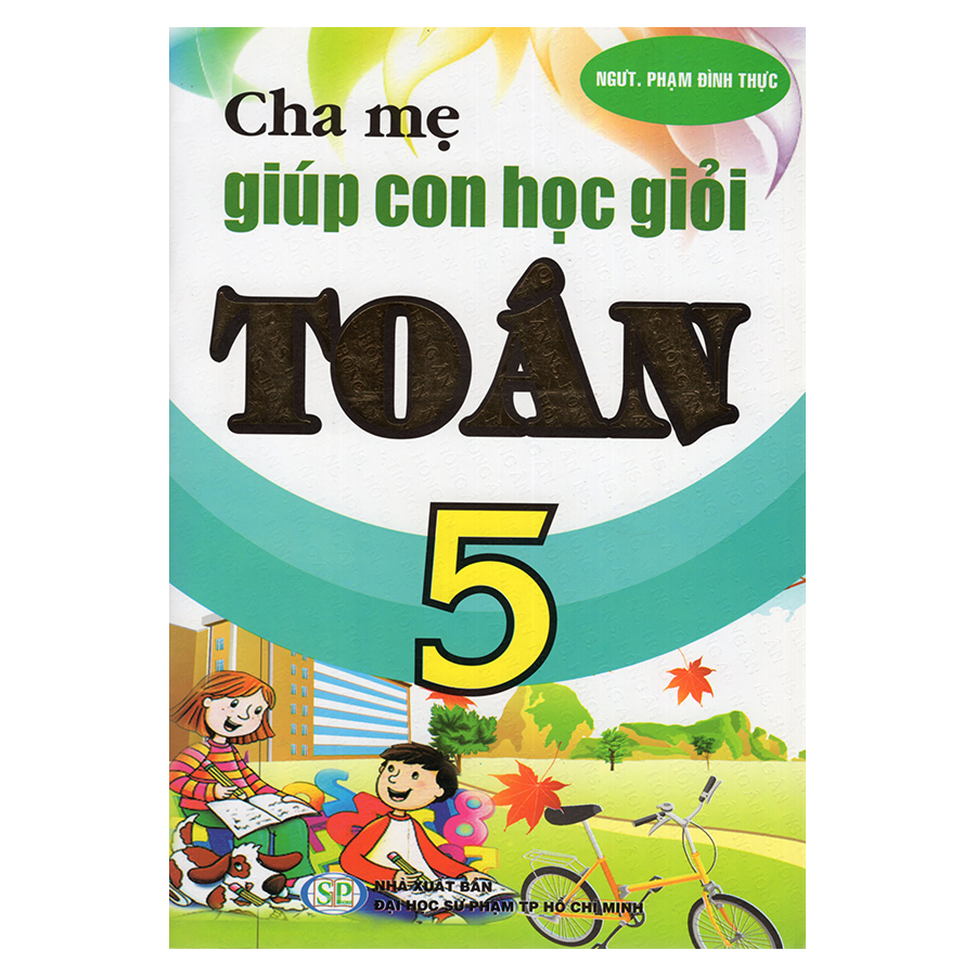 Bìa sách Cha Mẹ Giúp Con Học Giỏi Toán 5